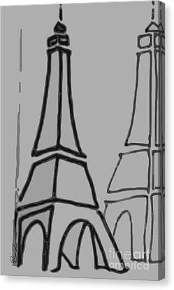 Mirrored Eiffel Tower Canvas Print