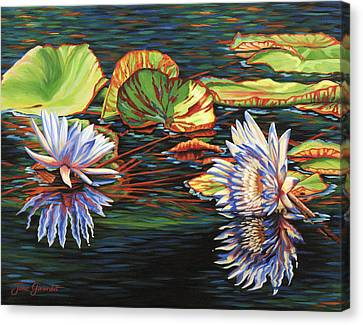 Mirrored Lilies Canvas Print
