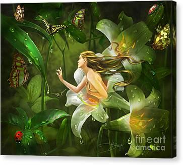 Mirrors Of Twilight Canvas Print by Drazenka Kimpel