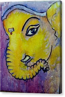 Mischievous Ganesha Canvas Print