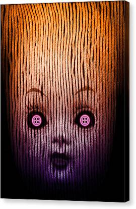 Miss Button Canvas Print by Johan Lilja
