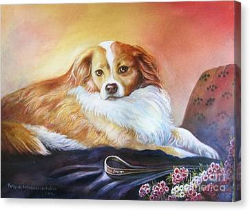 Canvas Print featuring the painting Miss Daisy by Patricia Schneider Mitchell