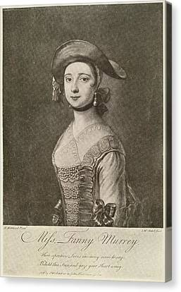 Miss Fanny Murray Canvas Print by British Library