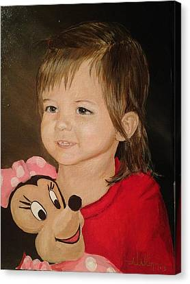 Canvas Print featuring the painting Miss Fynley by Alan Lakin