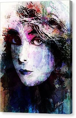 Tag Canvas Print - Miss Gish by Gary Bodnar