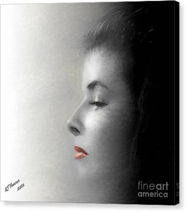Miss Katherine Canvas Print by Arne Hansen