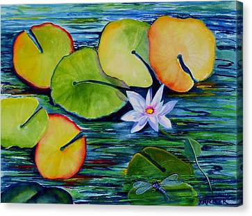 Whimsical Waterlily Canvas Print