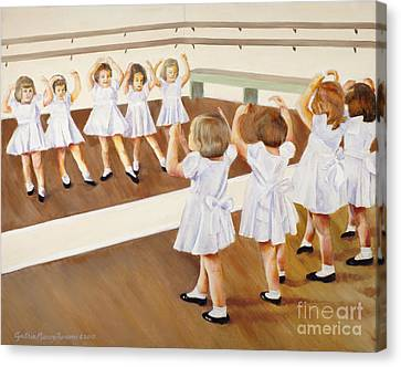 Miss Lum's Ballet Class Canvas Print by Cynthia Parsons