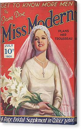 Miss Modern 1931 1930s Uk   Brides Canvas Print by The Advertising Archives