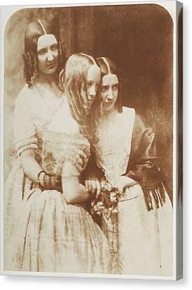 Miss Munro And Misses Graham Binney Canvas Print
