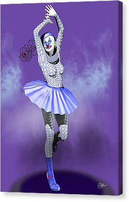 Miss Pierrette In Love  Canvas Print by Quim Abella