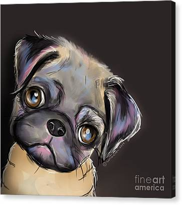 Miss Pug Canvas Print