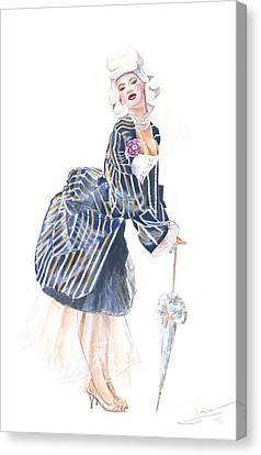 miss Ro co co Canvas Print by Jovica Kostic