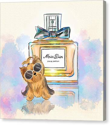 Miss Yorkie Parfum Canvas Print by Catia Cho