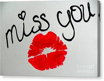Miss You  Canvas Print by Marisela Mungia