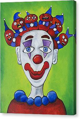 Miss.curly Clown Canvas Print by Patricia Arroyo