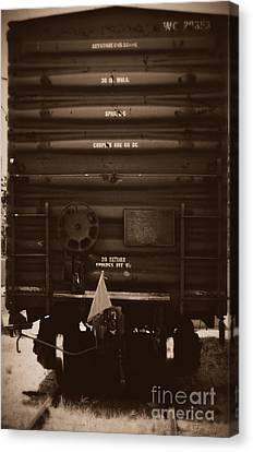 Missing It's Caboose Canvas Print by Deborah Fay