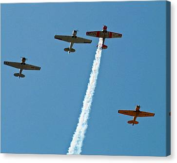 Canvas Print featuring the photograph Missing Man Flyover by Allen Sheffield