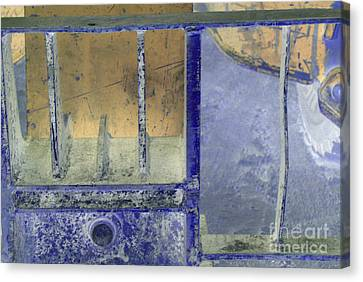 Missing Middle Bar Left Horizontal Peach And Purple Canvas Print by Heather Kirk