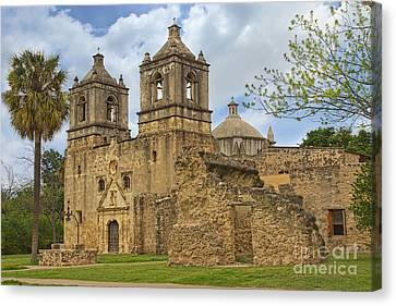 Canvas Print featuring the photograph Mission Concepcion by Jemmy Archer