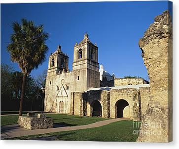 Historic Battle Site Canvas Print - Mission Concepcion, San Antonio, Texas by David Davis