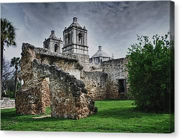 Mission Concepcion San Antonio Texas Canvas Print by Gerlinde Keating - Galleria GK Keating Associates Inc