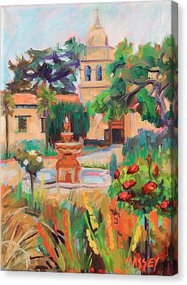 Mission California Canvas Print - Mission Courtyard by Marie Massey