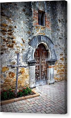Mission Espada - Doorway Canvas Print