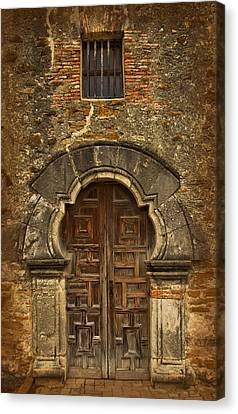 Canvas Print featuring the photograph Mission Espada Doorway by Jemmy Archer