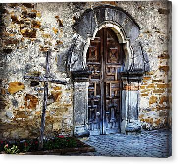 Ruin Canvas Print - Mission Espada Entrance by Stephen Stookey