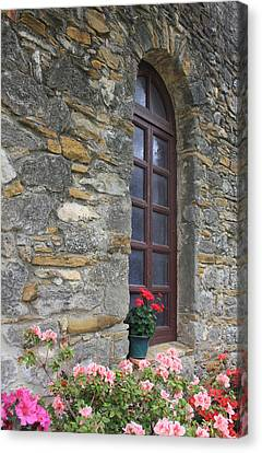 Mission Espada Window Canvas Print