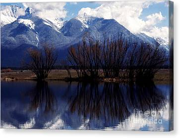 Mission Mountains Mission Valley Canvas Print by Thomas R Fletcher
