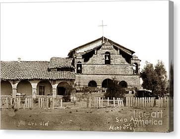 Mission San Antonio De Padua California Circa 1885 Canvas Print