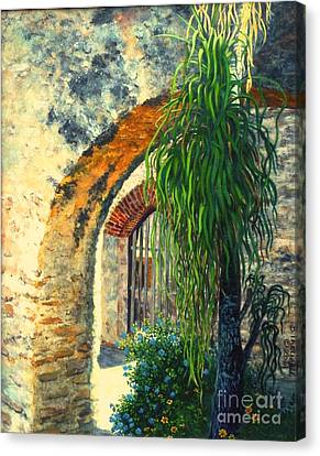 Mission San Jose Canvas Print by Beverly Theriault