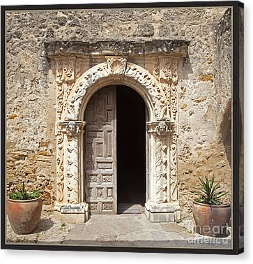 Mission San Jose Chapel Entry Doorway Canvas Print by John Stephens