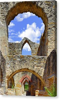 Mission San Jose In San Antonio Canvas Print by Christine Till