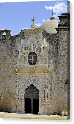 Mission San Jose - San Antonio Tx Canvas Print by Christine Till