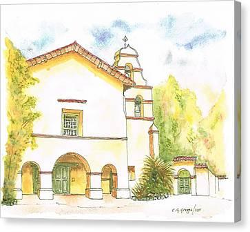 Mission San Juan Bautista - California Canvas Print by Carlos G Groppa