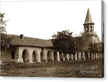 Mission San Juan Bautista San Benito County Circa 1905 Canvas Print by California Views Mr Pat Hathaway Archives