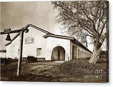 Mission San Juan Bautista San Benito County Circa 1920 Canvas Print by California Views Mr Pat Hathaway Archives