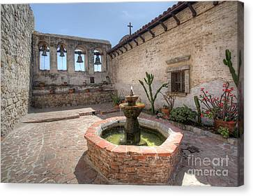 Canvas Print featuring the photograph Mission Bells San Juan Capistrano by Martin Konopacki