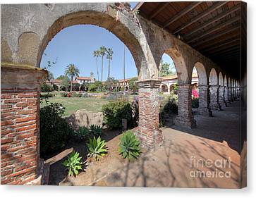 Canvas Print featuring the photograph Mission San Juan Capistrano by Martin Konopacki