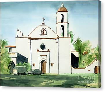Mission San Luis Rey Colorful II Canvas Print by Kip DeVore