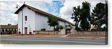 Mission San Miguel Church At Roadside Canvas Print