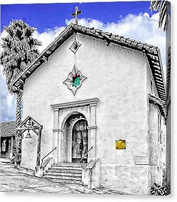 Mission San Rafael Arcangel Canvas Print by Ken Evans