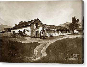 Mission San Rafael California  Circa 1880 Canvas Print by California Views Mr Pat Hathaway Archives