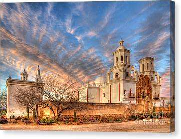 Mission San Xavier Del Bac 1 Canvas Print by Bob Christopher