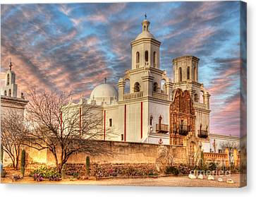 Mission San Xavier Del Bac 2 Canvas Print by Bob Christopher