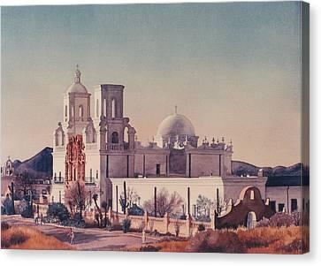 Mission San Xavier Del Bac Tucson Canvas Print