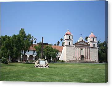 Mission Santa Barbara Canvas Print by Christiane Schulze Art And Photography